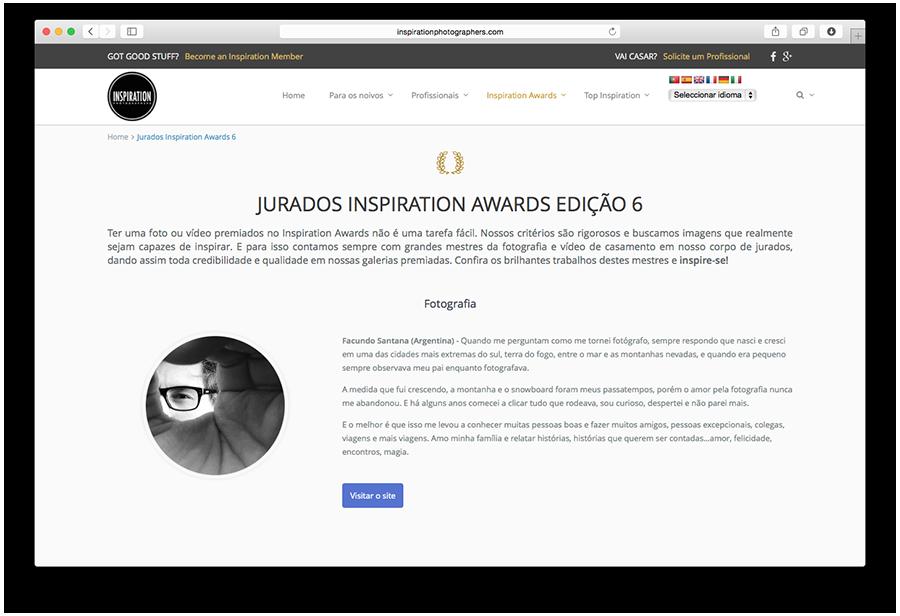 Facundo Santana -  Jurados Inspiration Photographers 6ta Edición