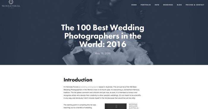The 100 Best Wedding Photographers in the World 2016